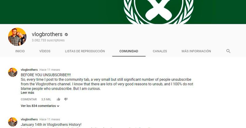 YouTube Reels Comunidad