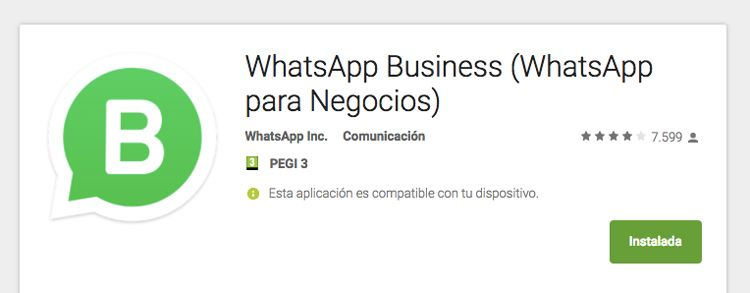 WhatsApp Business en Android