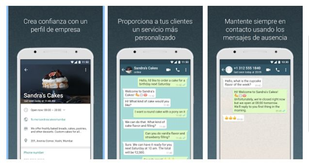 Funciones WhatsApp business