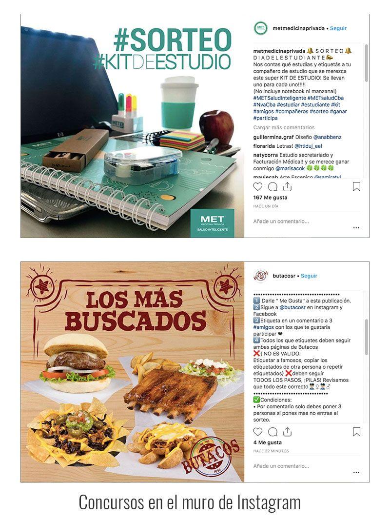 Sorteo en Instagram - Ejemplos