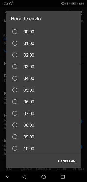 Notificación de las novedades de la app de YouTube
