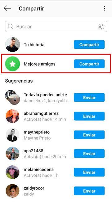 Mejores amigos Instagram
