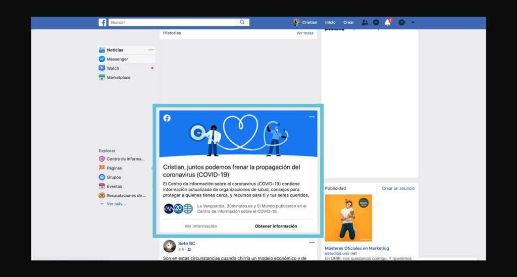 Facebook y el control de las Fake News