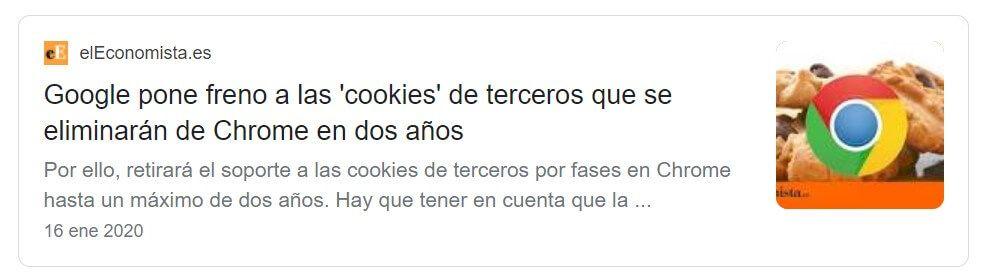 Google anuncia retirada de cookies